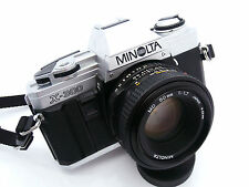 Silver Minolta X-300 35mm Film Camera with Minolta MD 50mm f1.7 Lens Free UK P&P