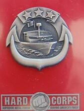 USN US NAVY NAVAL SHIP SMALL CRAFT COMMANDER FULL SIZE QUALIFICATION BADGE A