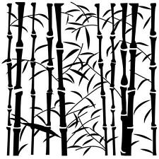 """STENCIL TEMPLATE 6""""x6"""" The Crafters Workshop - """"Bamboo""""  Mixed Media Crafts"""