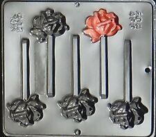 Bloomed Rose Lollipop Chocolate Candy Mold  247 NEW