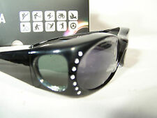 Figuretta Sonnen-Überbrille UV 400 Polarisiert f. Brillenträger Polbrille Strass