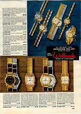 1957 PAPER AD 2 Sided Wolbrook Wrist Watch Seajet Sea Hawk Career Woman