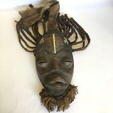 African Tribal Art Bete Mask Cote D'Ivoire Ivory Coast Beard Hair