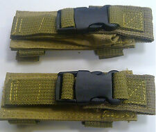 TAN NEW Tactical MOLLE double 2 Pistol gun Magazine Pouches Mag Pouch