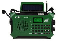 Kaito KA700 Green AM/FM W/Bluetooth RDS NOAA Solar MP3 Player & USB AC Adapter!