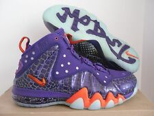 NIKE BARKLEY POSITE MAX COURT PURPLE-TEAM ORANGE SZ 11 [555097-581]