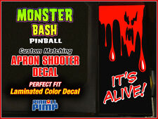 Williams MONSTER BASH Pinball -  BLOOD GHOST - Custom Apron Shooter DECAL MOD!