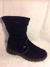 Rieker Black Ankle Suede Boots Size 39