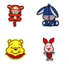 New 4Pc 7-9CM CLASSIC WINNIE THE POOH BEAR Iron/Sew On Patch Craft Party Favours