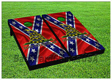 VINYL WRAPS Cornhole Boards DECALS Red Blue Flag BagToss Game Stickers 557