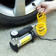 DC 12V 100 PSI Car Pump Auto Portable Tire Inflator Mini Air Compressor gauge