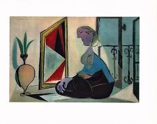 PABLO PICASSO,GIRL AT MIRROR 1937, ORIGINAL OFFSET LITHOGRAPH 1946  UNSIGNED