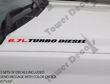 6.7L TURBO DIESEL Hood sticker decals emblem vinyl 4x4 fits: RAM DODGE CUMMINS