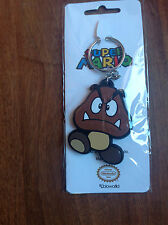 NEW! Nintendo Super Mario Bros Goomba Rubber Keychain Key Ring