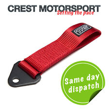 TRS Fixed Tow Eye Strap/Loop RED (MSA Compliant) Race/Rally/Competition Car