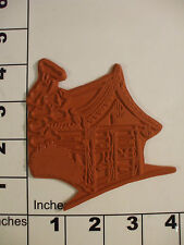 chinese oriental cottage house unmounted rubber stamp 2J #1