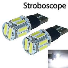 2 ampoules à LED Blanc Veilleuses / Stroboscope Peugeot 206 207 307 308 407