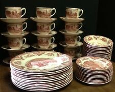 Johnson Brothers Old Britain Castle Pink China 64 Piece  Beautiful