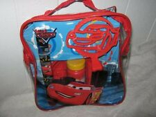 Disney Pixar CARS Lightning McQueen Bubble Up 'N Go Kit w/Take Along Tote.