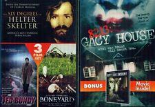 HELTER SKELTER-Ted Bundy-Boneyard-Gacy House NEW 2 DVD
