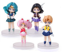 SAILOR MOON/ SET 4 FIGURAS 8 CM  CHIBI URANUS NEPTUNO SATURNO WITH BOX