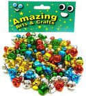 120 Jingle Bells in Assorted Colours 10mm and 15mm by Amazing Arts and Crafts