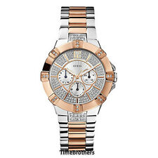 NEW GUESS WATCH for Women * Two Tone * Swarovski Crystal Glitz * U0024L1