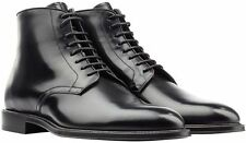 Authentic NEW BURBERRY Men's Gray CAYTON Formal Leather Lace Up Boots $750 42 9
