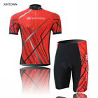 XINTOWN Bike Red Cycling Bicycle Jersey Wear Team Short Sleeve Sport BIB Shorts