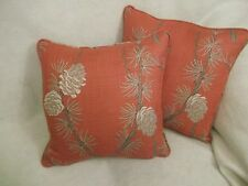 "NORWOOD BY VILLA NOVA 1 PAIR OF 16"" CUSHION COVERS - DOUBLE SIDED & PIPED!"