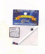 Hockey Stick & Puck -  dollhouse miniature IM65118 plastic 1/12 scale sports