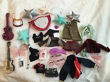 32 Piece Lot Bratz Doll Clothes Guitars Stand Sunglasses Variety!