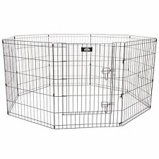 Dog Play pen Fence Cage Exercise 30 Inch High x 5 Feet 8 Panels 24 x 30
