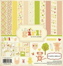 Carta Bella Paper IT'S A GIRL 12x12 Collection Kit Baby Girl Pink Scrapbook
