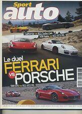 SPORT AUTO n°594 07/2011 PORSCHE vs FERRARI