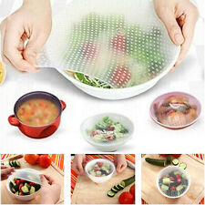 HOT Sale 4Pieces Silicone Wrap Seal Cover Stretch Cling Food Fresh Kitchen Tools