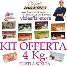 CONFETTI MAXTRIS 4Kg Bomboniere Matrimonio + di 100 Gusti a Scelta Confettata