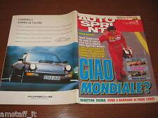 AUTOSPRINT 1991/18=COVER JEAN ALESI=SUPERTEST JAGUAR XJR15=PUBBLICITA' PORSCHE=