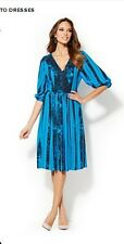 Nwt $80 Eva Mendes Collection For New York And Company Vanessa Pleat Dress 10