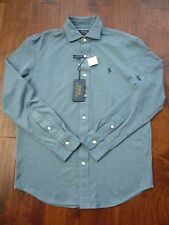 NWT POLO RALPH LAUREN KNIT LONG SLEEVE COTTON DRESS SHIRT SZ M