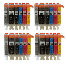 24 Ink Cartridges for Canon Pixma IP8750 MG6350 MG7150 MG7550 (Include Grey ) T