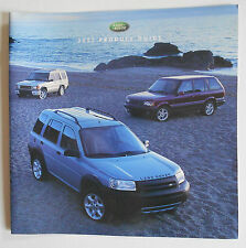 2002 Land Rover Product Guide Brochure