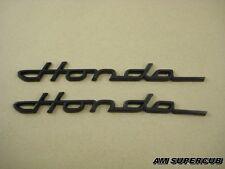 HONDA CHALY DAX 50 70 CT70 ST50 ST70 ST90 CF50 CF70 BLACK FRAME EMBLEM 1PAIR