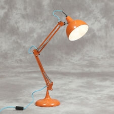Orange Desk Table Lamp Bedside Retro Vintage Style Angle Large Anglepoise New UK