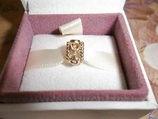Genuine Authentic Pandora 14ct Gold Row of Roses Charm 750456 585 ALE