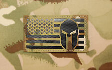 Infrared Multicam US Spartan Helmet Flag Patch IR Green Beret US Molon Labe