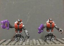 -HALO LOT of (2) Crimson GRUNT figs Mega Bloks megabloks blocks 2pp 718