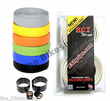 WHITE ESI Grips RCT Silicone Handle bar Tape Reversable Washable Road Bike Wrap