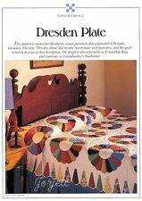 Dresden Plate Quilt, Circles & Curves quilt sewing pattern & templates