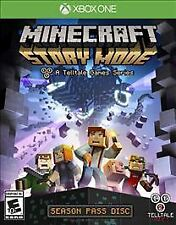 XBOX ONE MINECRAFT STORY MODE VIDEO GAME 2015 SEASON PASS DISC E+10 NEW SEALED